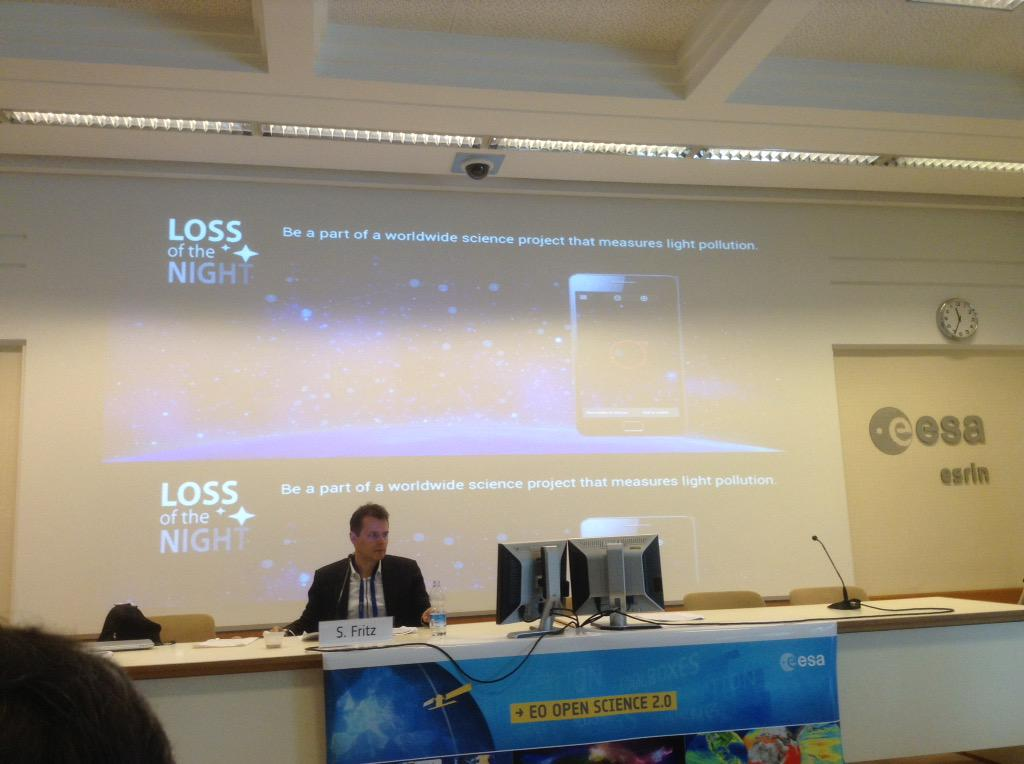 Loss of the Night App at #eoscience20 @skyglowberlin http://t.co/rOUBxzgD2V