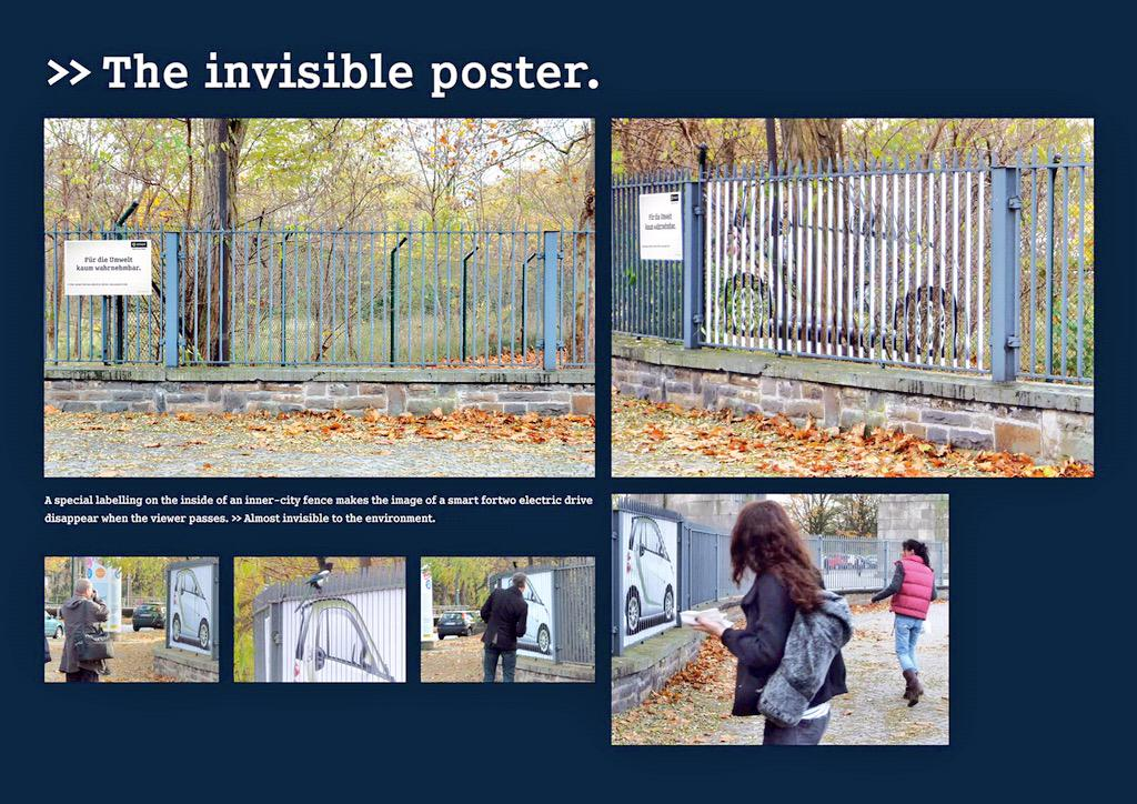 RT @simonsugar: The invisible billboard from @smartcarUK #advertising #OOH http://t.co/ghZcEuqlFS