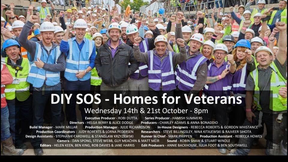 RT @MoreJessicaRose: Princes William & Harry are joining the party, are you? DIY SOS - Homes for Veterans part 1 TOMORROW BBC One 8pm! http…