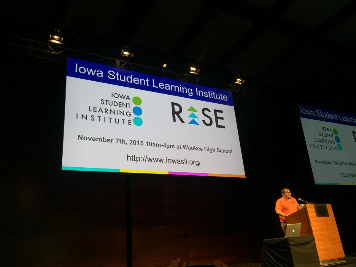 Great @IowaSLI shoutout from @karlhehr #itecia Proud of our IA student founders @iancoon @jackhostager http://t.co/o0jzLdcGuz