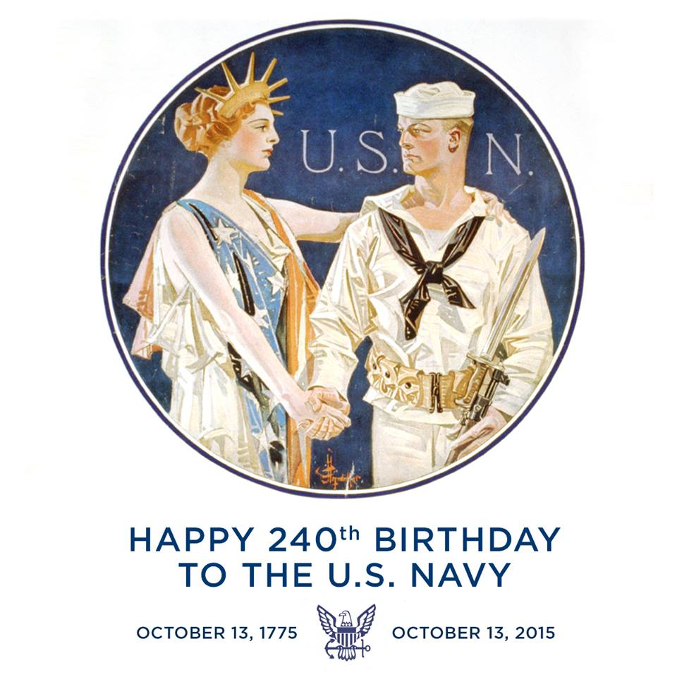Today is a special day... HAPPY BIRTHDAY to the @USNavy!! The #Navy turns 240 years old today! #military #veterans http://t.co/3fVDwCUEDJ