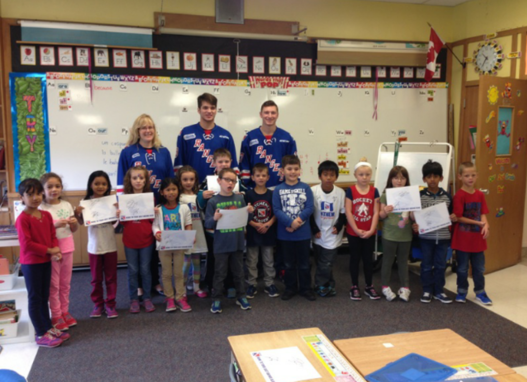 Kitchener Rangers On Twitter Blaisdell And Llewellyn Visit Forest Hill Public School The Rbcschooltour Http T Co 8bdmvpcaxq Rbc Canada