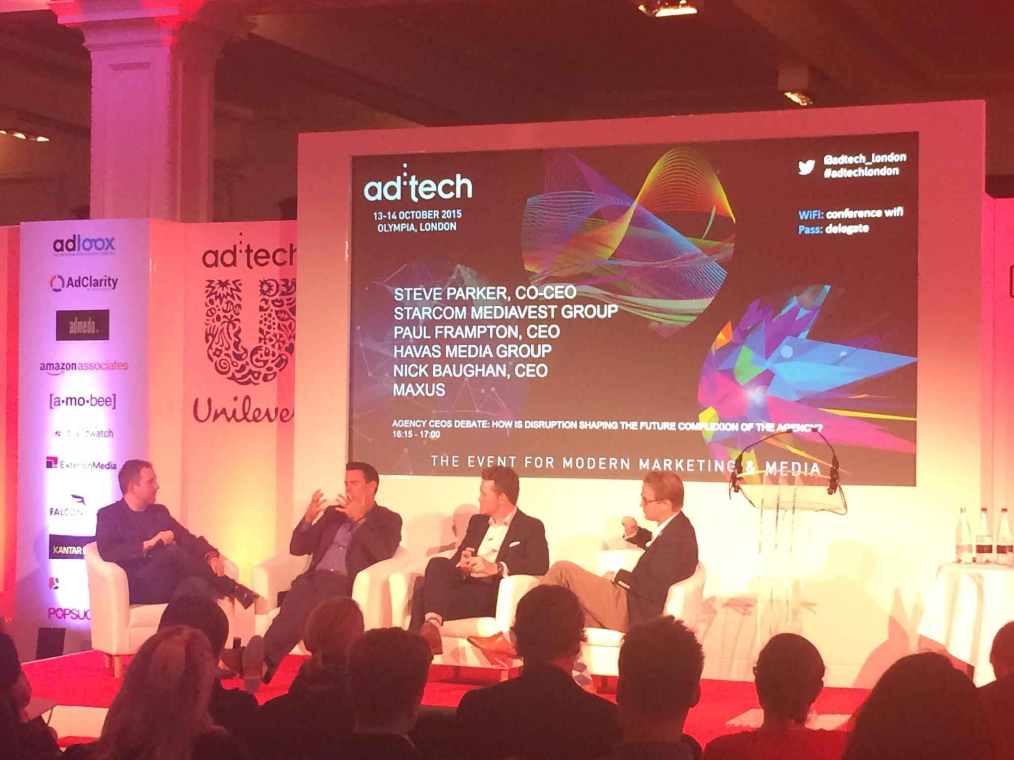 RT @propellerites: Interesting talk with @HavasMediaUK @MaxusLondon & Starcom at #adtechLondon http://t.co/Lsfc8qALut