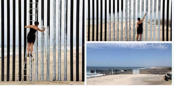 prensa libre on twitter inter pl artista mexicana pinta muro que divide su pa s de eeuu. Black Bedroom Furniture Sets. Home Design Ideas