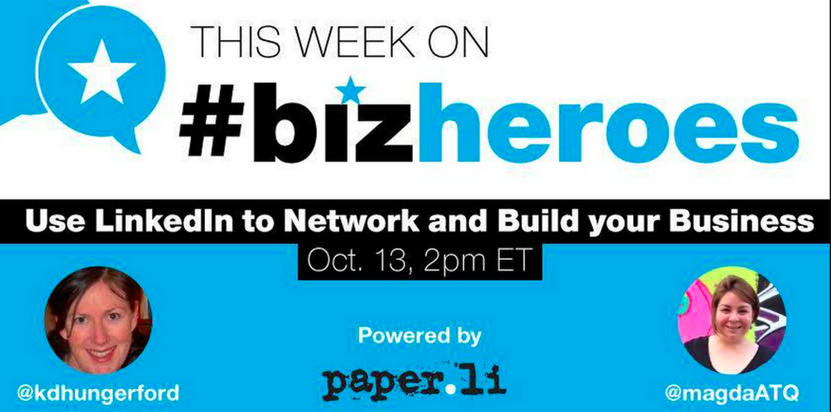 We're headed into our 88th #BizHeroes chat today and the community's taking the #TweetSeat to talk #LinkedIn! http://t.co/RIvZ8CTDkm