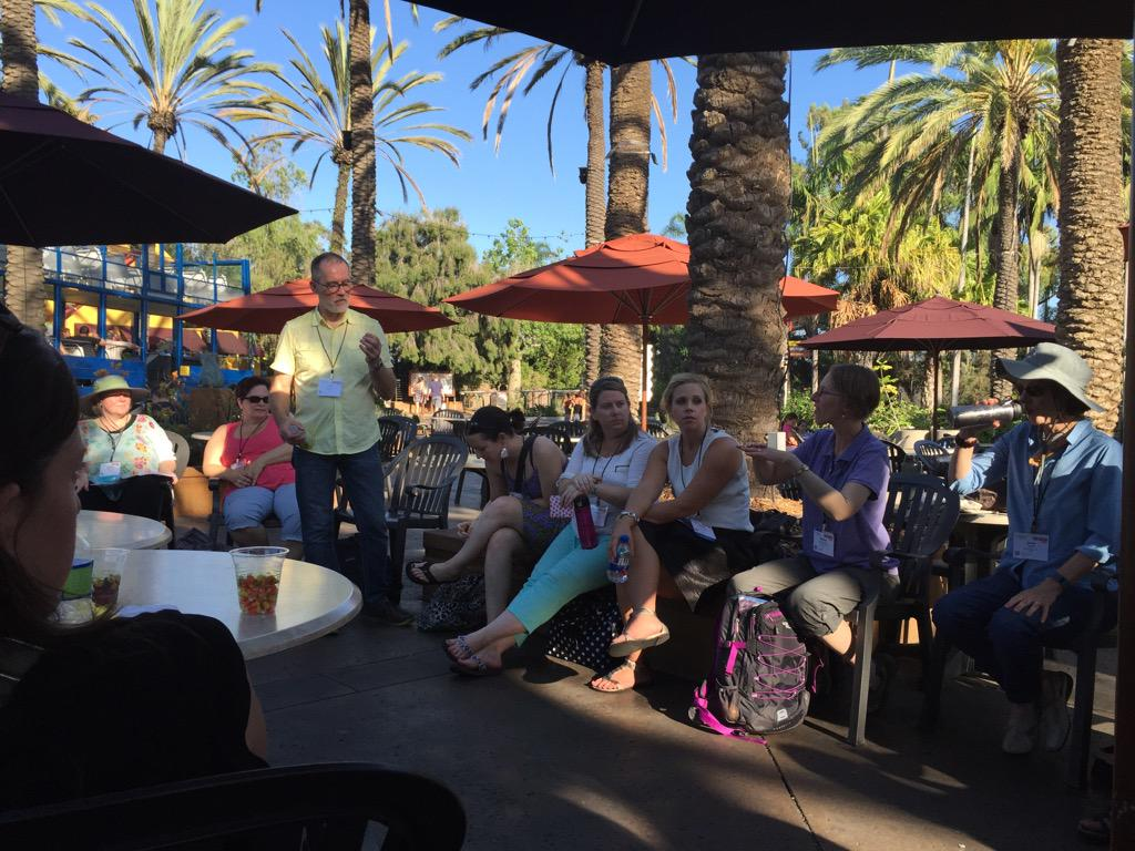 Starting off the #NAAEE2015 research symposium with an afternoon session at the San Diego zoo http://t.co/VbJoPYt5WN