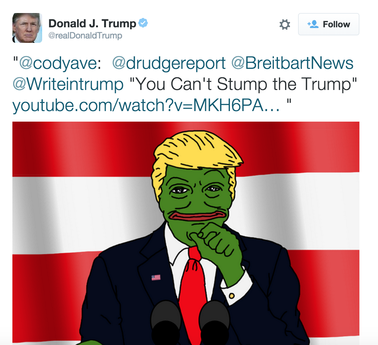 Image result for trump pepe tweet