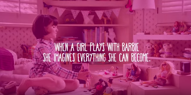 Barbie's new 'Imagine The Possibilities' ad - watch it here: http://t.co/kZ2ciwd5hT #advertising http://t.co/zWmoYjXVTU