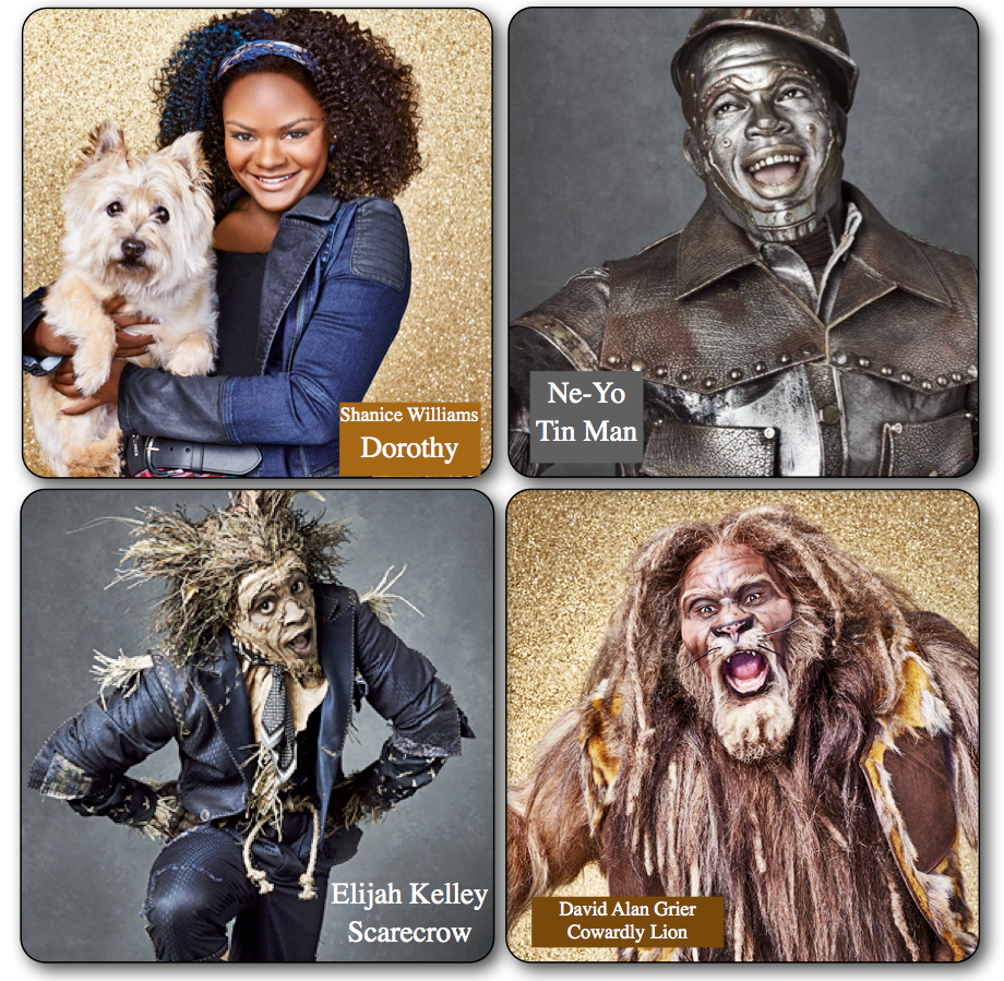 ActorsLife: First Look Photos of Dorothy, Cowardly Lion, Tin Man and Scarecrow in 'The Wiz Live!' http://t.co/85TiGqrrlX