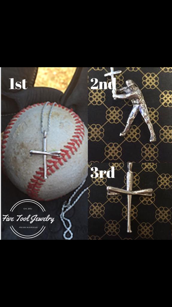 "five tool jewelry on twitter: ""⚾️giveaway⚾ 1st - silver bat ..."