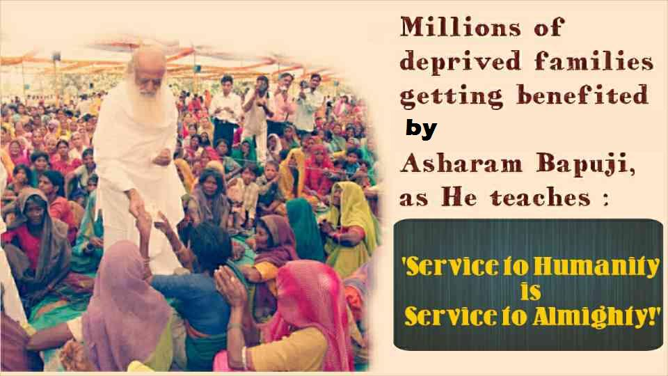 @harne_r Millions of deprived families are benefited by #EarthSaviour Sant Shri Asaram Bapu Ji's ashram.   <br>http://pic.twitter.com/7RONcCzvOT