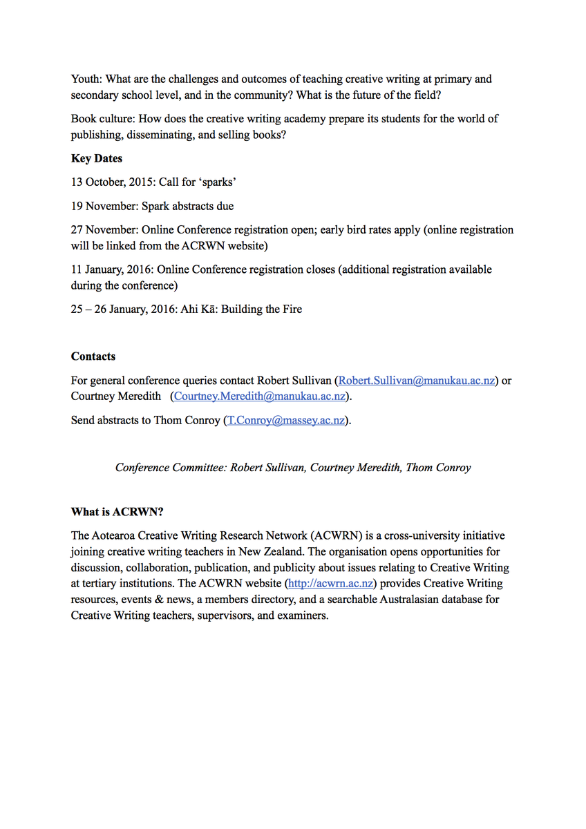 creative writing studies conference 2019