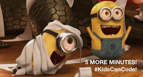 5 minutes, here we go! #KidsCanCode, let's do this! #edchat #edtech #csk8 http://t.co/kgb3UMhWjR