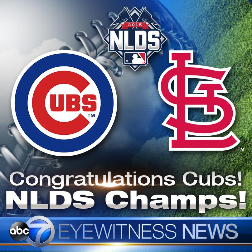 Abc 7 chicago on twitter congratulations cubs nlds champs abc 7 chicago on twitter congratulations cubs nlds champs httpt0e1uhzonlc sciox Image collections