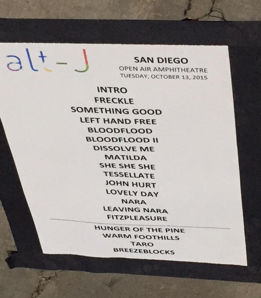 Alt-j Set List San Diego