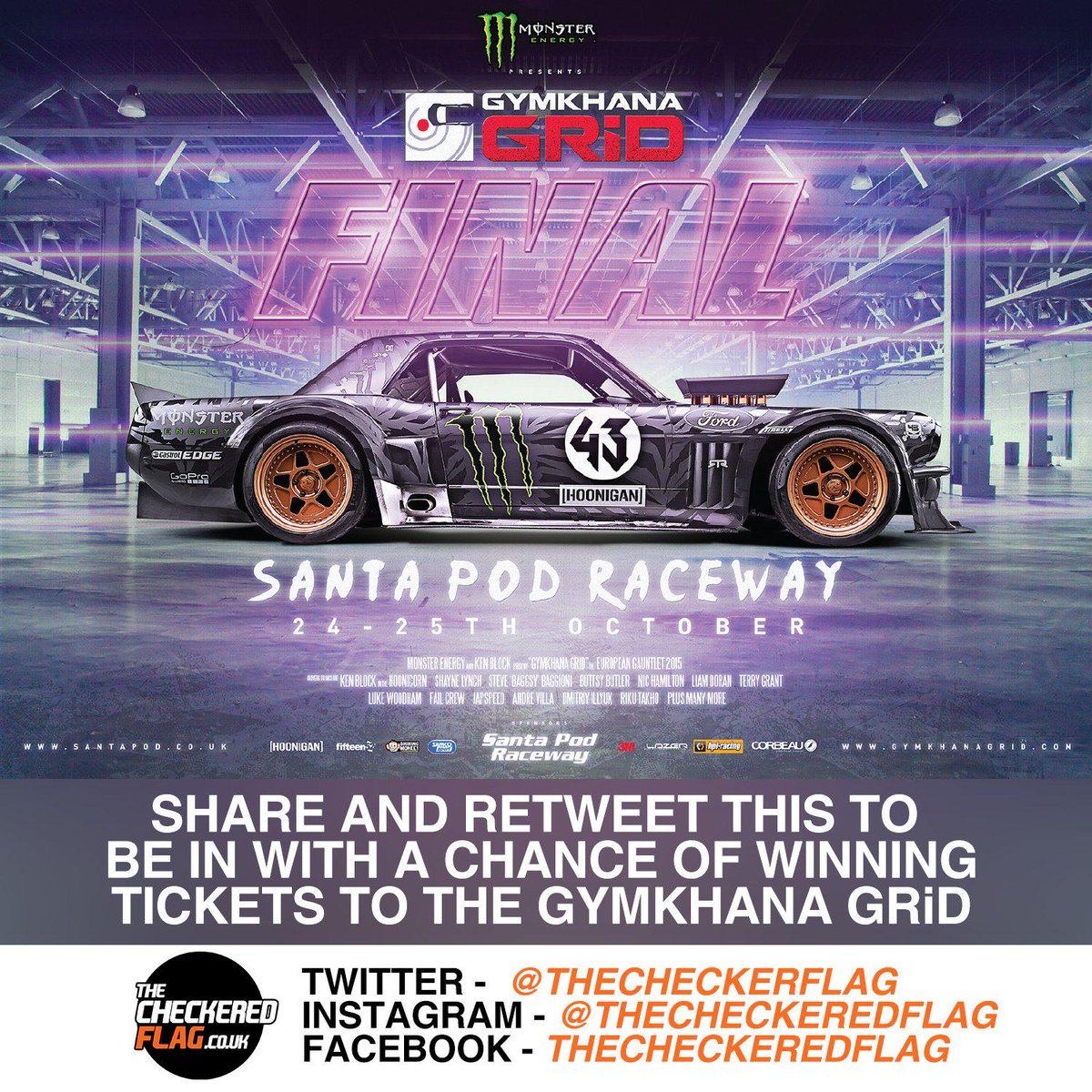 Fancy winning tickets to @GymkhanaGRID Final? Simply RT this or visit http://t.co/EqrQo974UR for more info! http://t.co/0auMwkzYjh