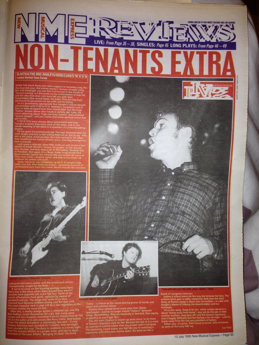 GimmeShelter Charity Live 1995 NME Review Elastica BooRadleys Gene Lush Smash 4adpictwitter OWOY96wH7P