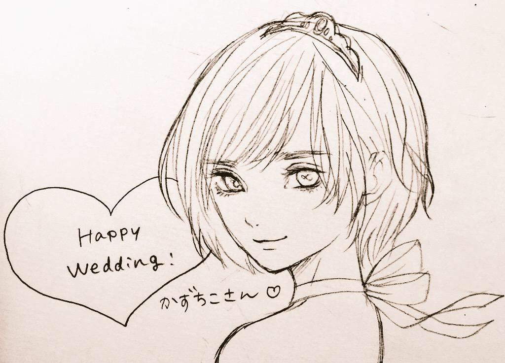 そして紺野真弓さん(@konnomym)が結婚のお祝いに私の絵を描いて下さいました…!!😭🙏✨大好きな紺野さんからメッセージと共に届いたときには嬉しさで涙が止まりませんでした… 実物の100万倍美人に描いて下さいました〜!😍💖感激…