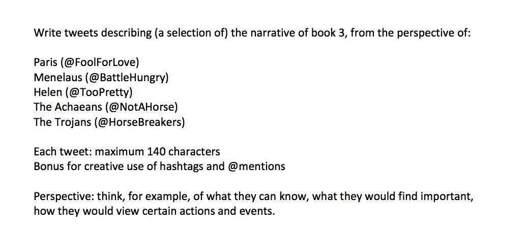 FYI Here's my #Iliad twitter assignment. Each student did 6 tweets at home, then they did them as groups in class http://t.co/amxUoDuuFm