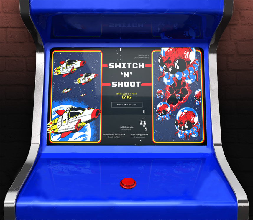 Matt Glanville ? on Twitter  Oh my goodness @tigsource forum user u0027mtariniu0027 made an arcade cabinet mockup O (//t.co/HuLUiTTyes) #shmup ... & Matt Glanville ? on Twitter: