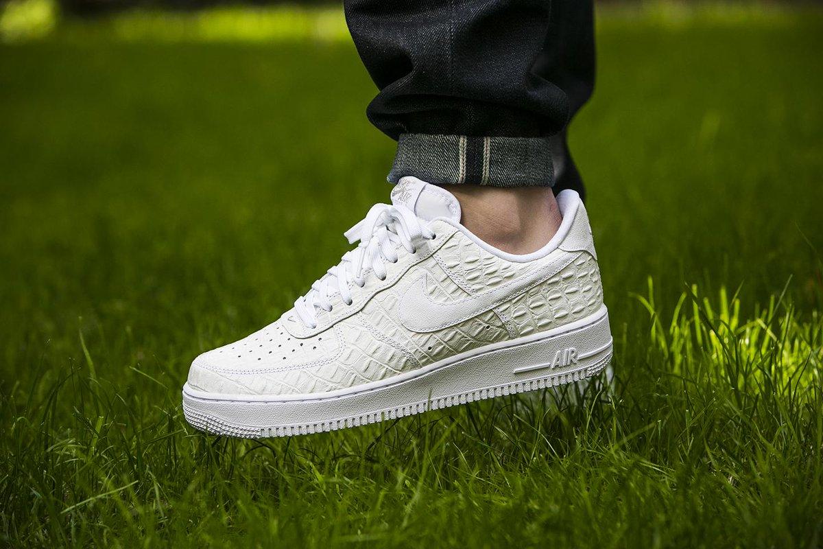 Air Force 1 White Croc