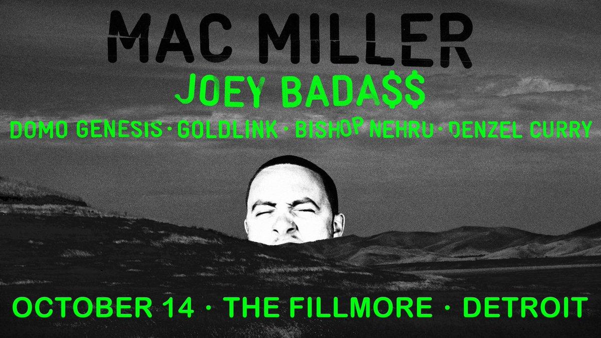 TONIGHT — @MacMiller & @JoeyBadass + more! Doors: 5:30P. Info & tickets: http://t.co/2de5BrwEXw http://t.co/kG2LOT4KyZ