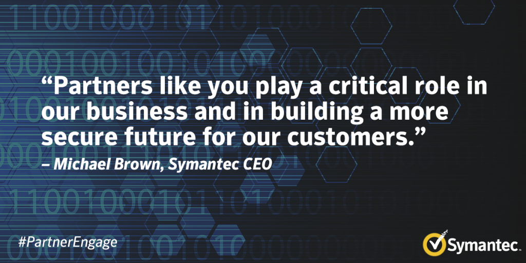 Symantec CEO Michael Brown speaks to the critical role partners play in building a secure future at #PartnerEngage. http://t.co/XcbxxsAIgi