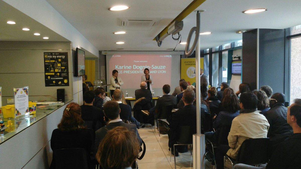 #SCAH_LYON: Lets get started. Welcome with Karine Dognin-Sauze,vice-président au Grand Lyon. http://t.co/JJFt98iBIN