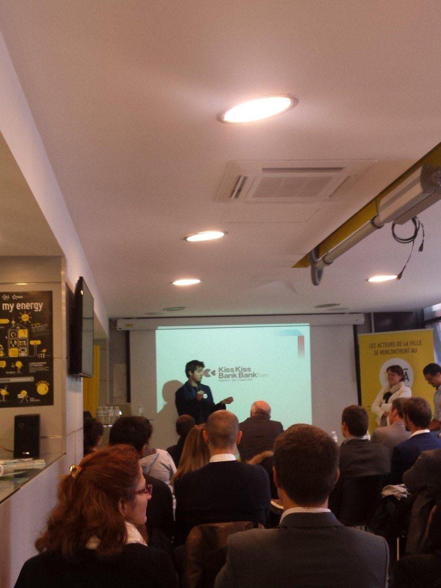 Lancement de la finale du #SCAH_LYON ac une présentation de @Kissbankers #crowdfunding  #lyonfrenchtech http://t.co/nYQa71X1Pi