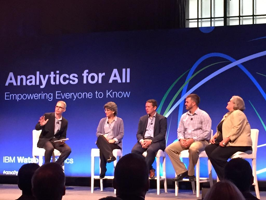 IBM's GM of #WatsonAnalytics @alistair_rennie introduces client panel #AnalyticsforAll http://t.co/N5m6RpdvRK