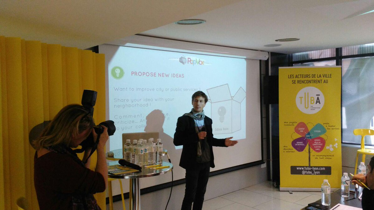 Pitching at #SCAH_LYON is @PopvoxFr allowing citizens to communicate with mayors and to inform them about local life. http://t.co/7rJ7sp7rYb