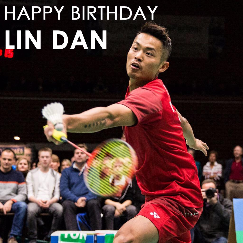 "yonex on Twitter ""Happy birthday to badminton Legend Lin Dan"