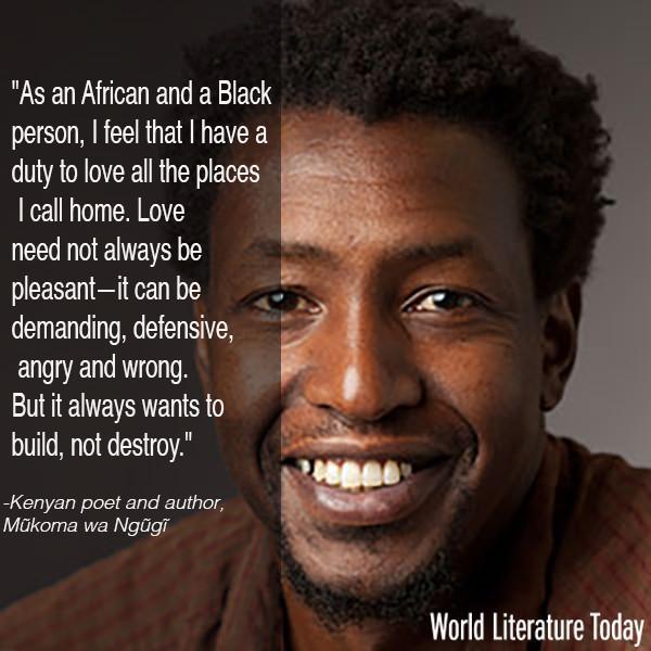 Visiting @WorldLitToday & @UofOklahoma next week for the 2015 #NeustadtFestival, Kenyan author Mukoma wa Ngugi http://t.co/RDyv78Vvm1
