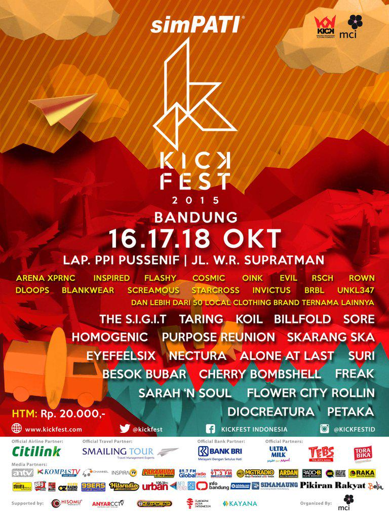 Are you ready for @simPATI #KICKFEST2015_BDG ? 16-18 Okt at Lap. PPI with 80 brands, 80 performers and many more! http://t.co/dFzapB7CTP