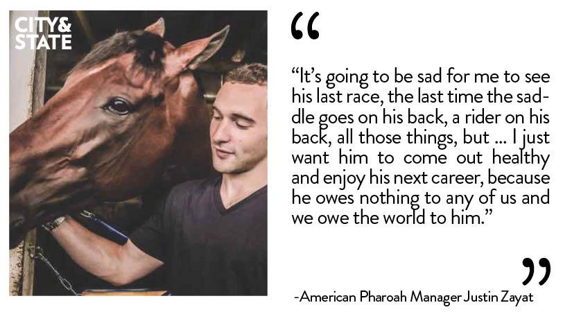 We sit down w/ American Pharoah Man. @JustinZayat to talk NYRA & the end of Pharoah's career http://t.co/3tm44jxyrc http://t.co/8pY4EhATAS