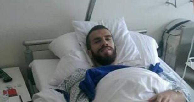 Hasani after his surgery; photo: Shkendija