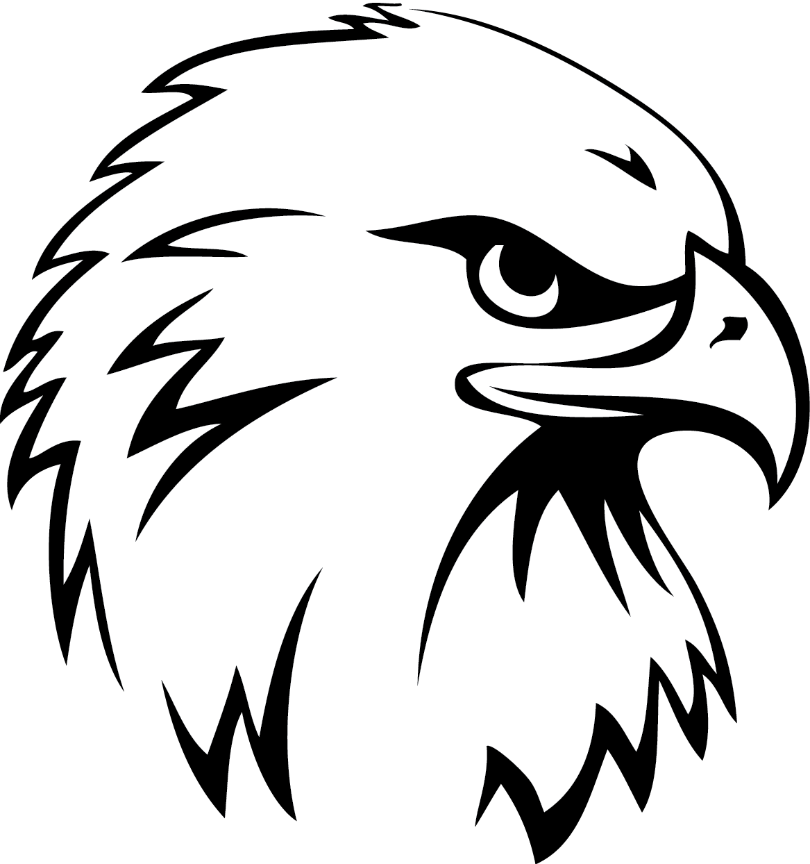 cartoon hawk mascot