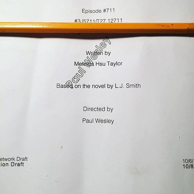 Look who's directing another episode.. We're so proud!! @paulwesley http://t.co/ejiogoXvTb