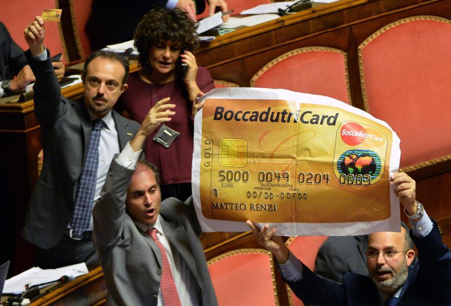 Boccadutri card in Senato