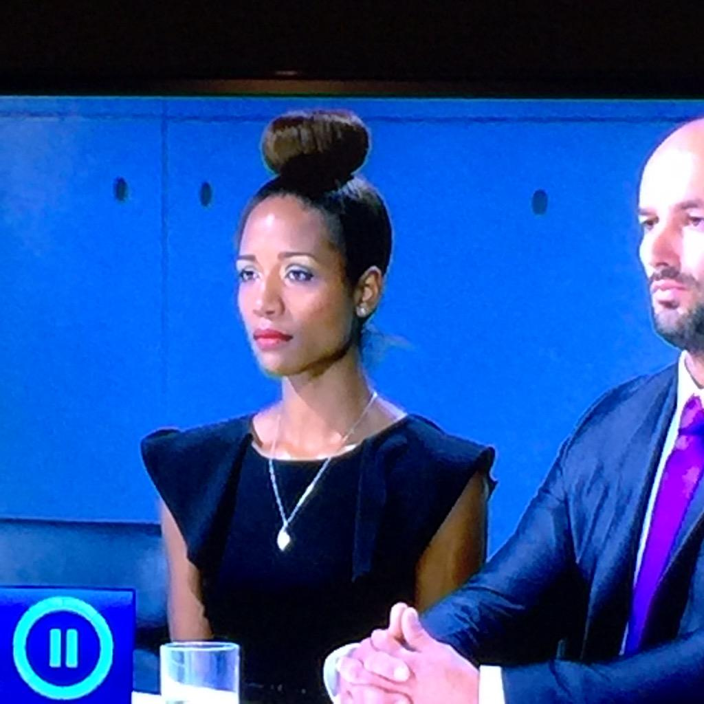 Has April got one of Brett's fishcakes on her head? #TheApprentice http://t.co/C5DtoA6Yju