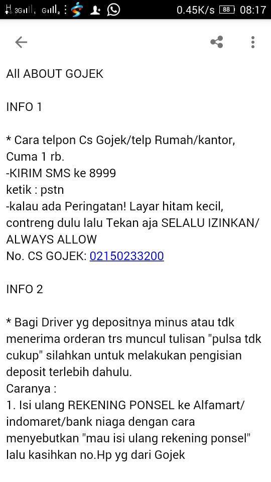 Abanggojek Got On Twitter Info Utk Kawan Kawan Driver Gojek Please Kindly Share To Your Friends Thank You Http T Co Jwqkdjcfj7