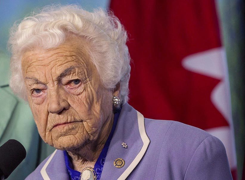 'Harper's not telling the truth' — Hazel McCallion steps into the ring for Trudeau: http://t.co/JpeXjoQnwF #exln42