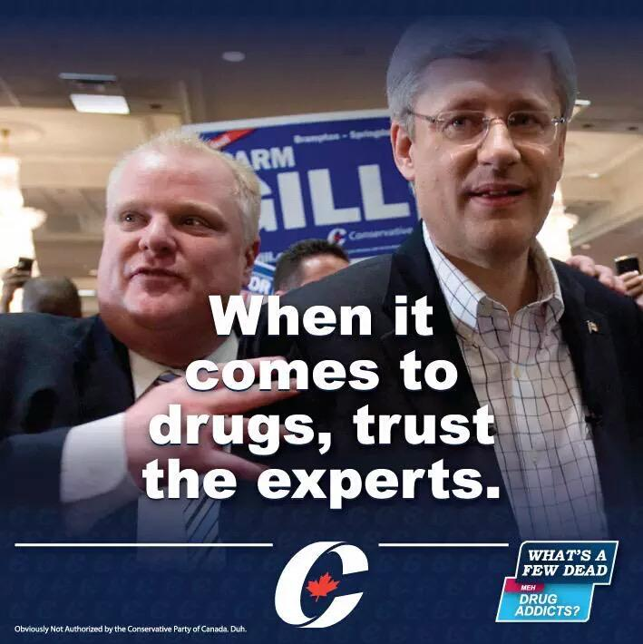 So Rob Ford is *hosting* a rally for #Harper Saturday… Wow.  #cdnpoli #elxn42 #canlab #CPC  https://t.co/1609Ia80iZ http://t.co/5F4GcdqVyT