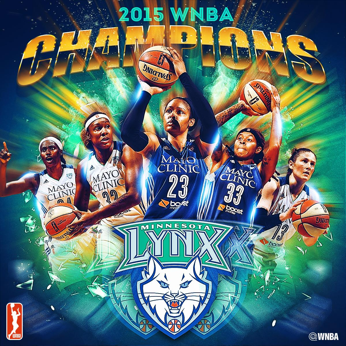 The @minnesotalynx are the 2015 WNBA champions! http://t.co/DRshk5BAF4