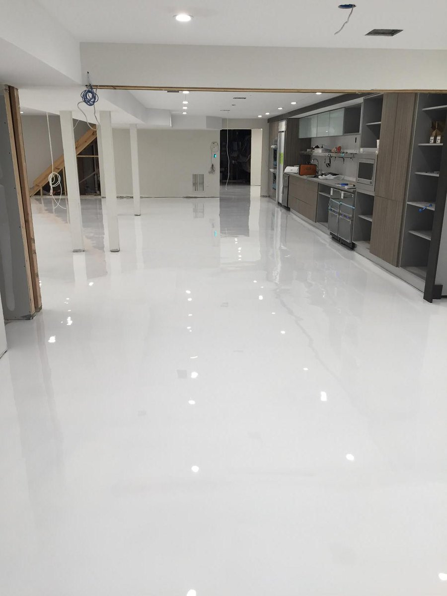 Epoxy Plus On Twitter One Of Our Customers Just Installed This White Floor In Their Bat Ep E200 Http T Co Risk0mjhyi