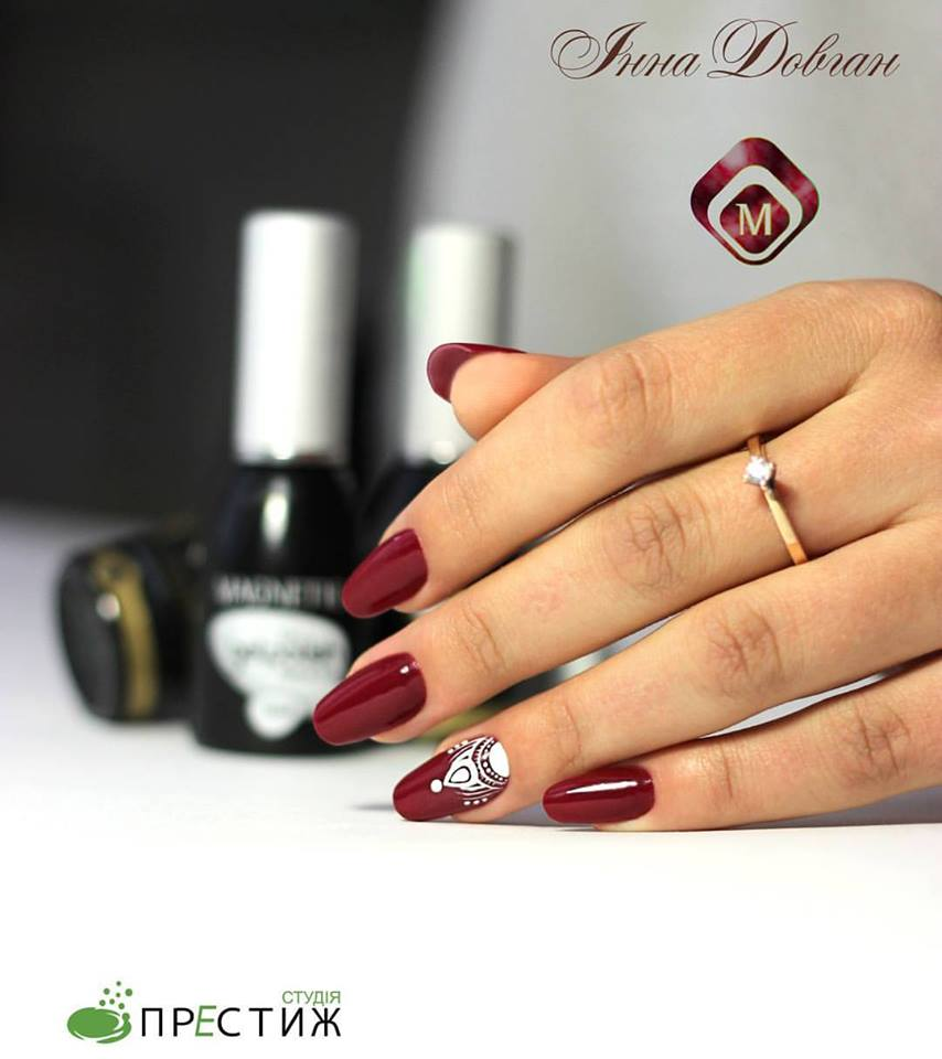 Magnetic nail design on twitter classy nails by a student of magnetic nail design on twitter classy nails by a student of oleksandra vlasiuk gelpolish bordeaux 103008 nailart httptouzbbo7dwd prinsesfo Choice Image