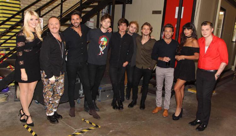 HUGE thanks to our amazin' guests on @CelebJuice ! 2nite with @jameelajamil @JohnNewmanMusic @Bhaenow AND @5SOS