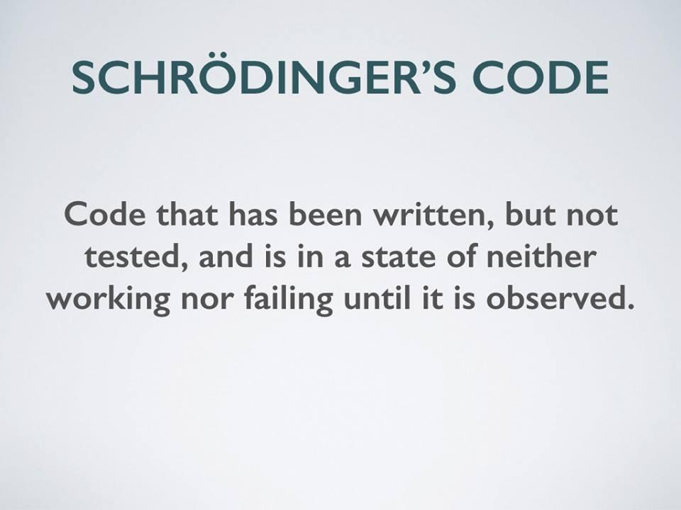 Schrödinger's Code http://t.co/hQpRLUVqeX