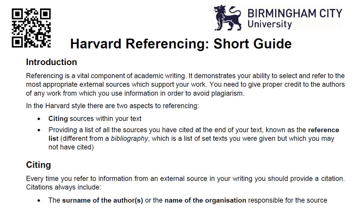 Citing a dissertation harvard style