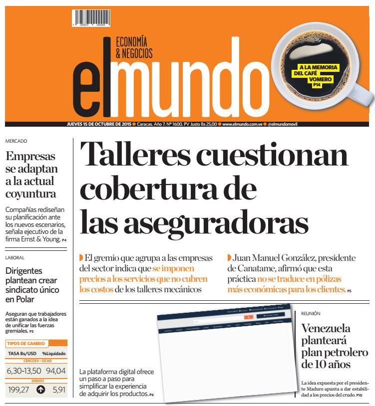 Globovisión On Twitter Titulares El Mundo Economía Y Negocios Talleres Cuestionan Cobertura De Las Aseguradoras Http T Co Ft5loyvtw6 Http T Co 3gwykppgnj